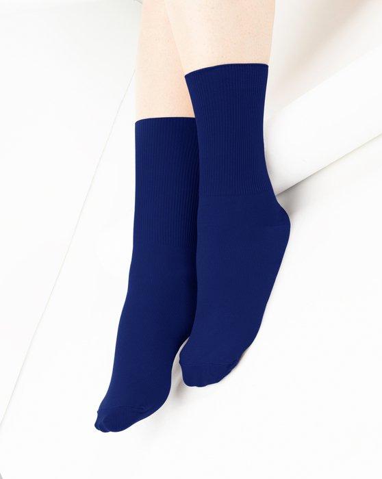 Navy Nylon Socks Style# 1551 | We Love Colors