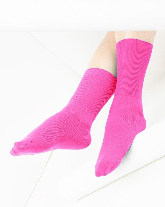 Neon Pink Nylon Socks Style# 1551 | We Love Colors