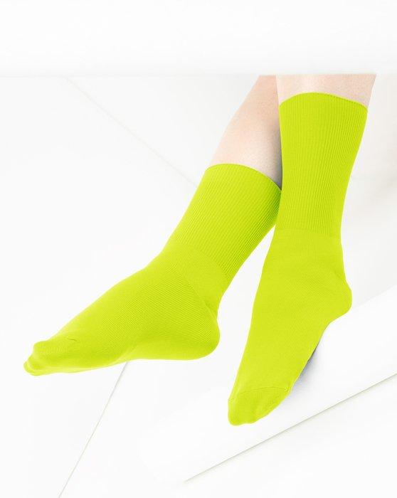 Neon Yellow Nylon Socks Style# 1551 | We Love Colors