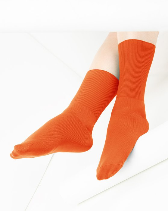 Orange Nylon Socks Style# 1551 | We Love Colors