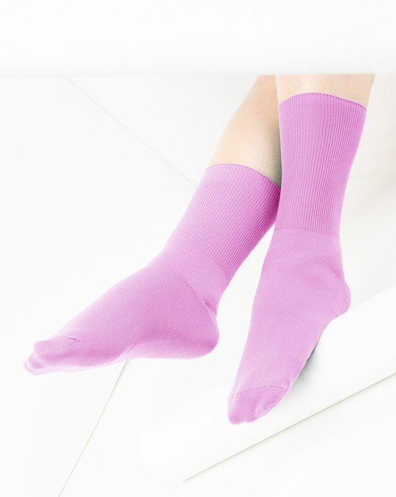 Orchid Pink Nylon Socks Style# 1551   We Love Colors