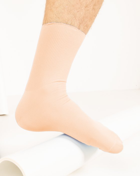 Peach Nylon Socks Style# 1551 | We Love Colors