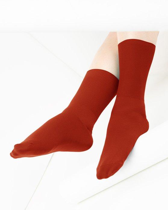 Rust Nylon Socks Style# 1551 | We Love Colors