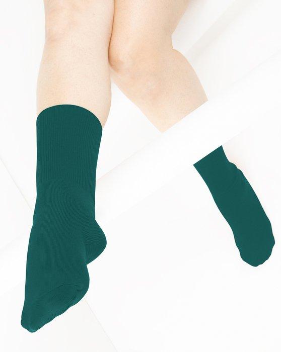 Spruce Green Nylon Socks Style# 1551 | We Love Colors