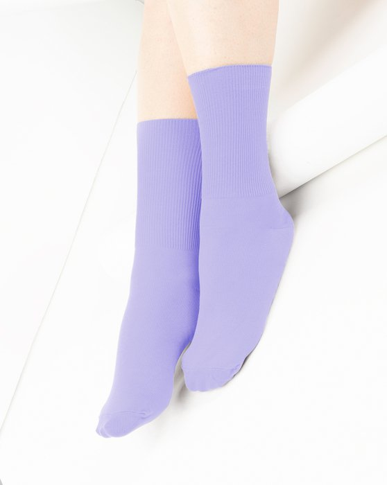 Lilac Nylon Socks Style# 1551 | We Love Colors