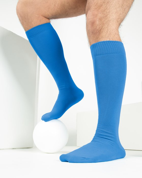 Medium Blue Sports Socks Style# 1559 | We Love Colors
