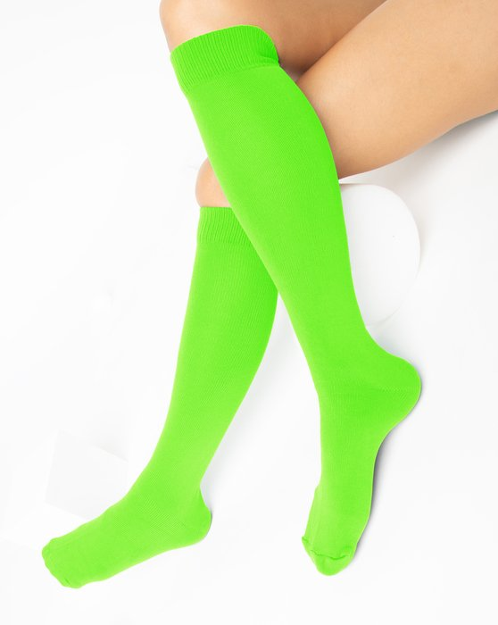 Neon Green Sports Socks Style# 1559 | We Love Colors