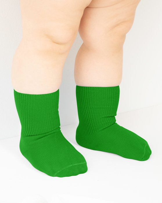 Kelly Green Kids Nylon Socks Style# 1577 | We Love Colors