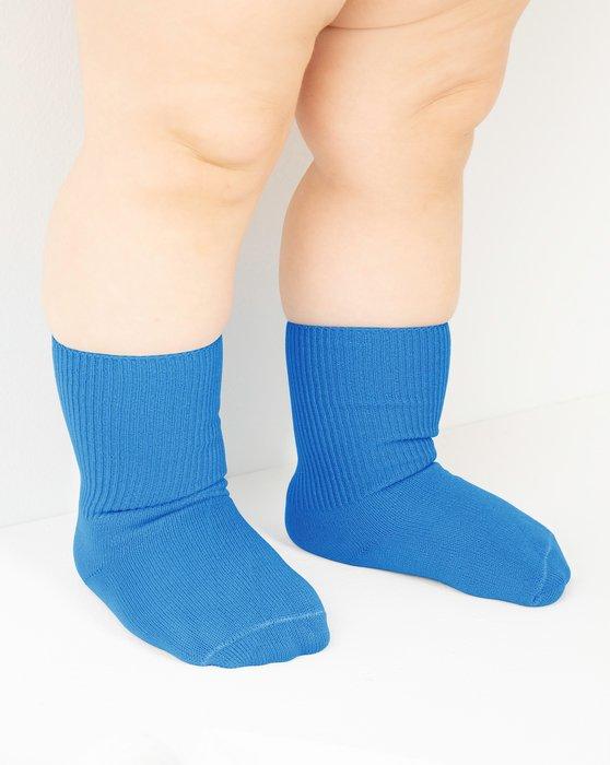 Medium Blue Kids Nylon Socks Style# 1577 | We Love Colors