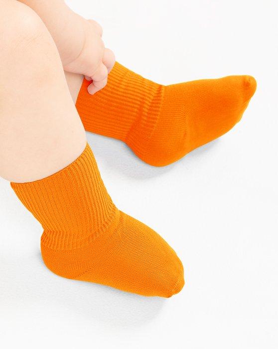 Neon Orange Kids Nylon Socks Style# 1577 | We Love Colors