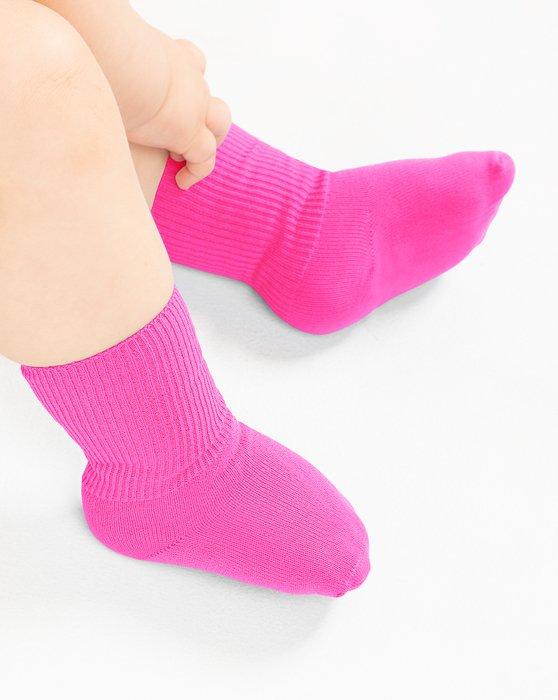 Neon Pink Kids Nylon Socks Style# 1577 | We Love Colors