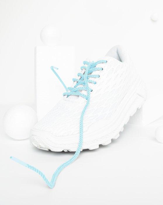 Aqua Round Shoelaces Style# 3001 | We Love Colors