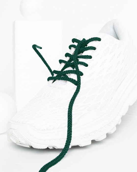Hunter Green Round Shoelaces Style# 3001   We Love Colors