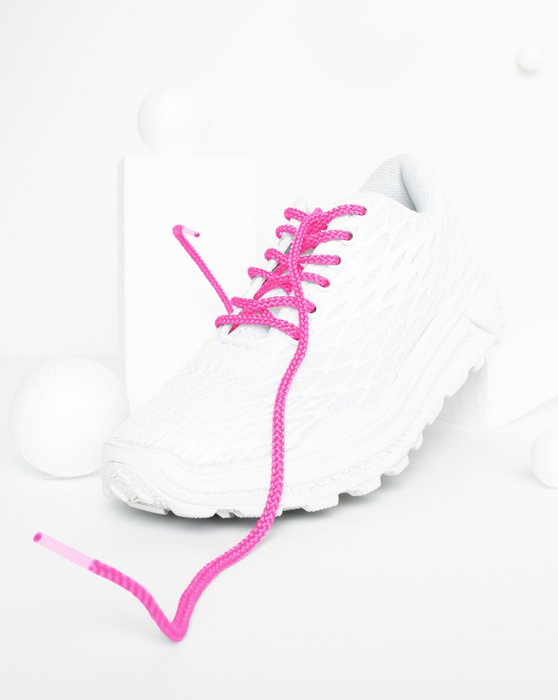 Neon Pink Round Shoelaces Style# 3001 | We Love Colors
