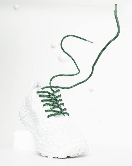 Emerald Round Shoelaces Style# 3001 | We Love Colors