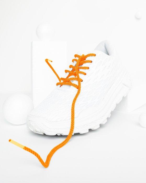 Neon Orange Round Shoelaces Style# 3001 | We Love Colors