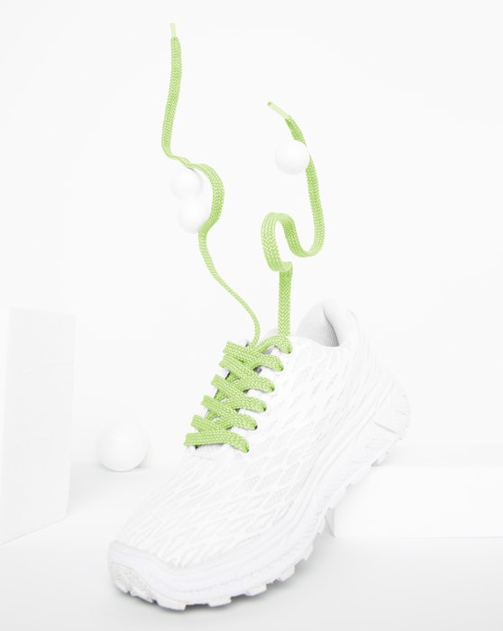 Mint Green Flat Shoelaces Style# 3002 | We Love Colors