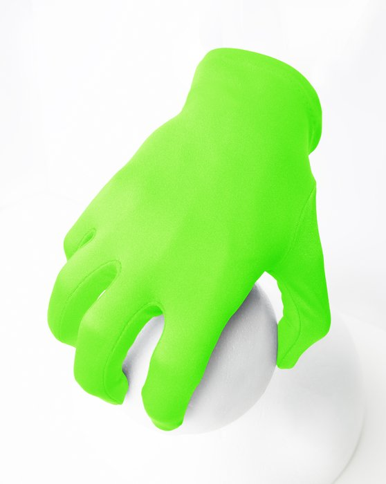 3405 Solid Color Neon Green Wrist Gloves