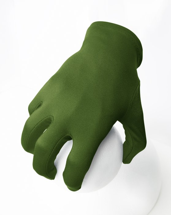 Olive Green Wrist Gloves Style# 3405 | We Love Colors
