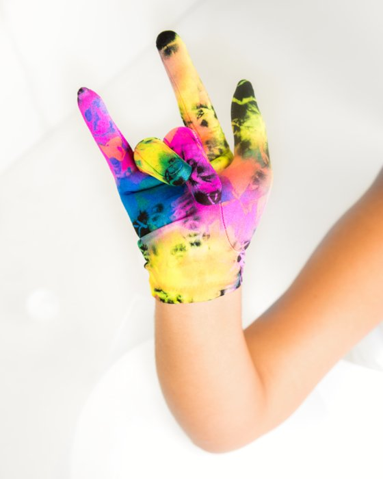 Neon Yellow Wrist Gloves Style# 3405   We Love Colors