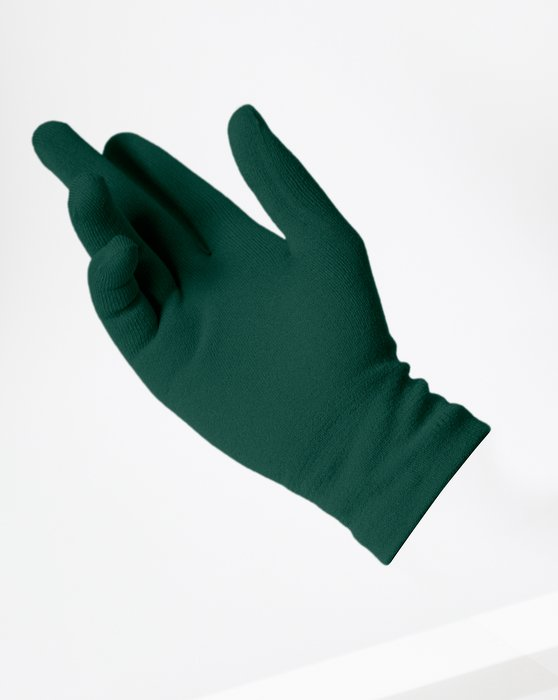 Hunter Green Short Matte Seamless Gloves Style# 3601 | We Love Colors