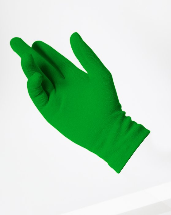 Kelly Green Short Matte Seamless Gloves Style# 3601 | We Love Colors