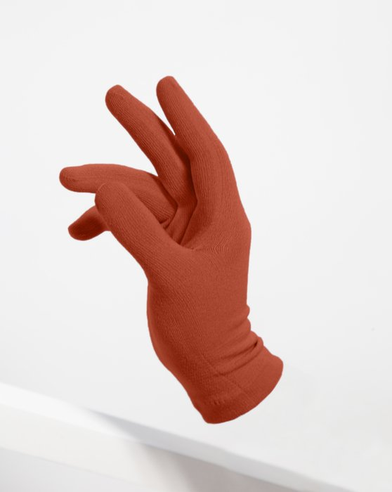 3601 Rust Short Matte Knitted Seamless Gloves