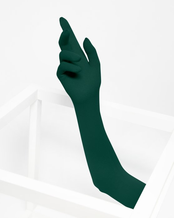 Hunter Green Long Matte Seamless Gloves