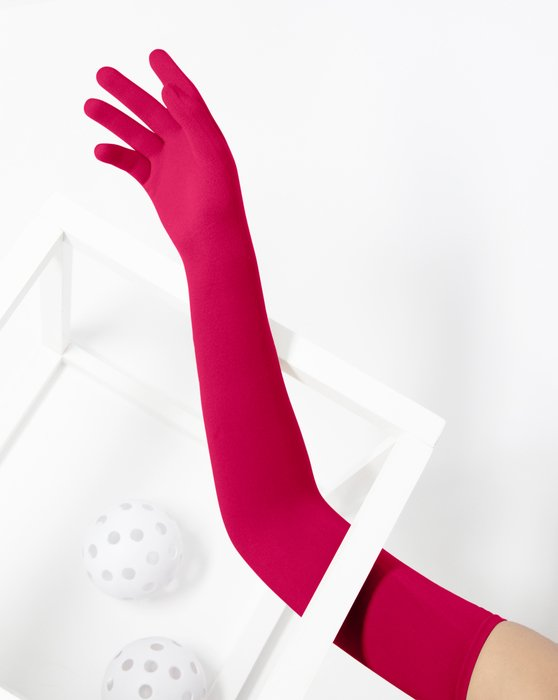 Red Long Matte Seamless Gloves