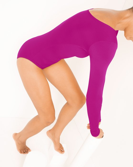 Fuchsia Long Sleeve Scoop Neck Leotard Style# 5002 | We Love Colors