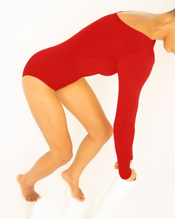 Scarlet Red Long Sleeve Scoop Neck Leotard Style# 5002 | We Love Colors
