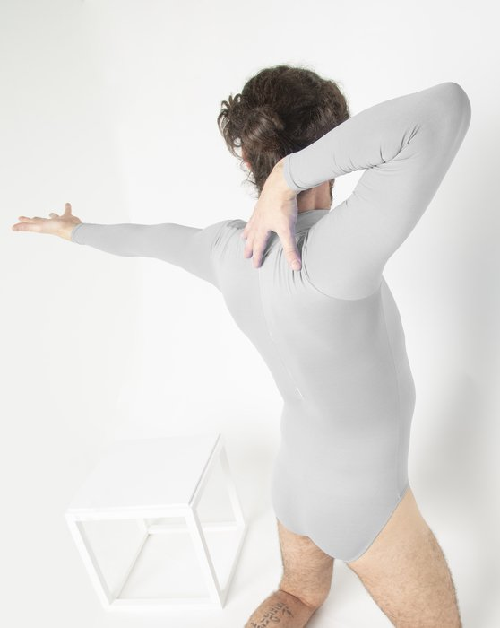 Light Grey Long Sleeve Mock Turtleneck Leotard Style# 5008 | We Love Colors