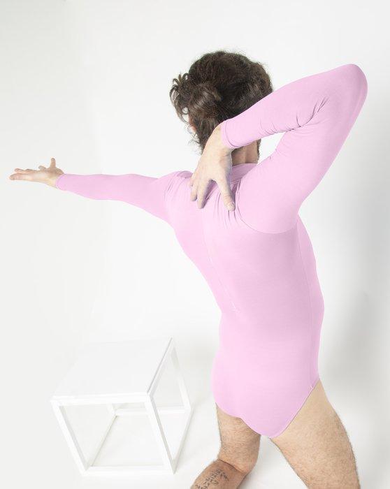 Light Pink Long Sleeve Mock Turtleneck Leotard Style# 5008   We Love Colors