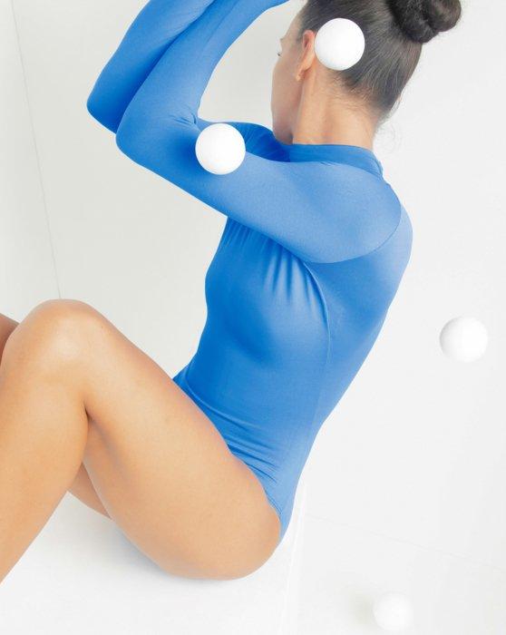 Medium Blue Long Sleeve Mock Turtleneck Leotard Style# 5008 | We Love Colors