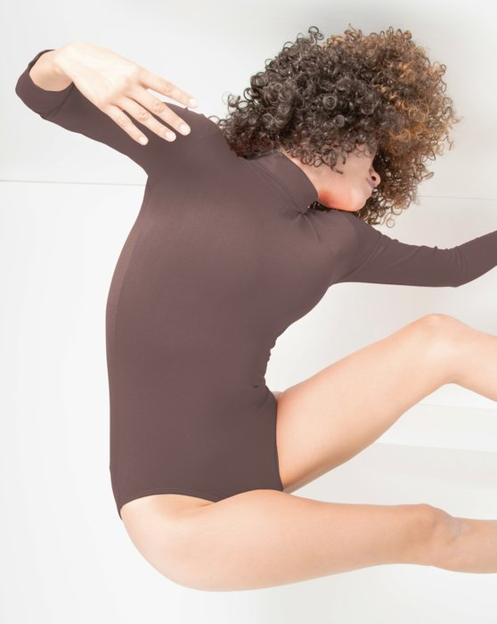 5008 W Mocha Long Sleeve Turtleneck Leotard