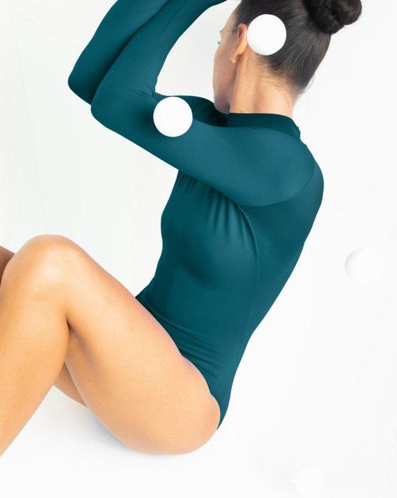 Teal Long Sleeve Mock Turtleneck Leotard Style# 5008 | We Love Colors