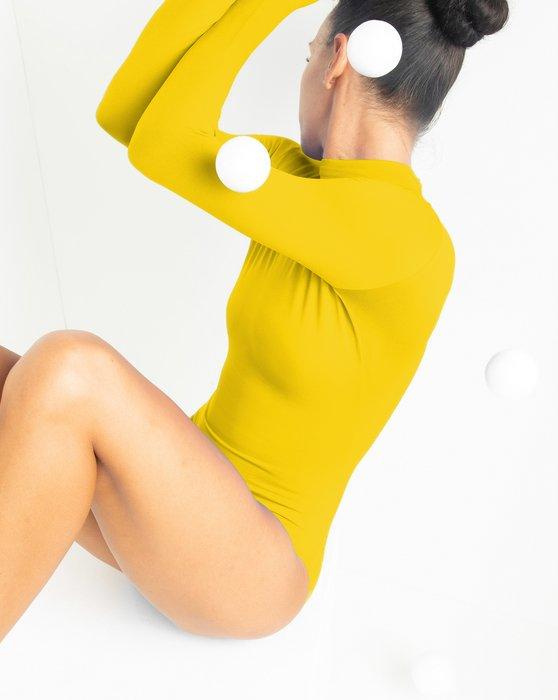 Yellow Long Sleeve Mock Turtleneck Leotard Style# 5008 | We Love Colors
