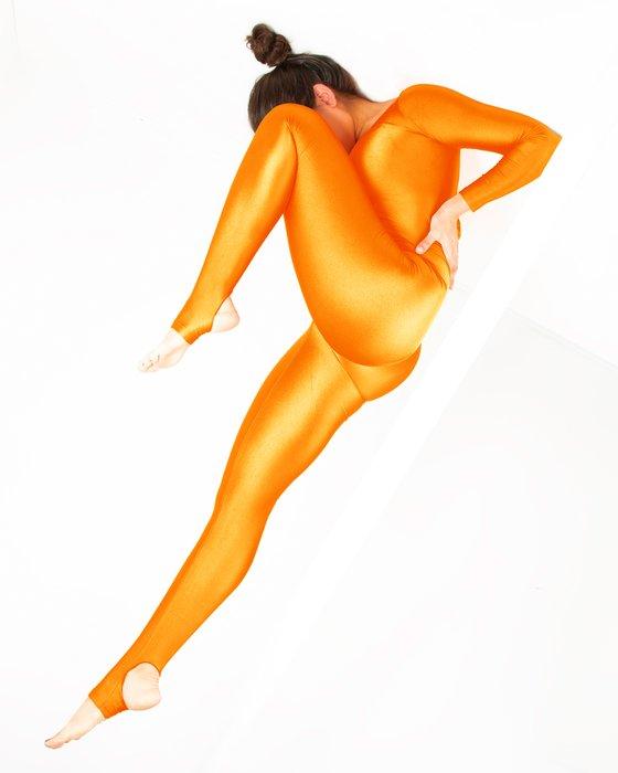 Neon Orange Long Sleeve Unitard Style# 5009   We Love Colors