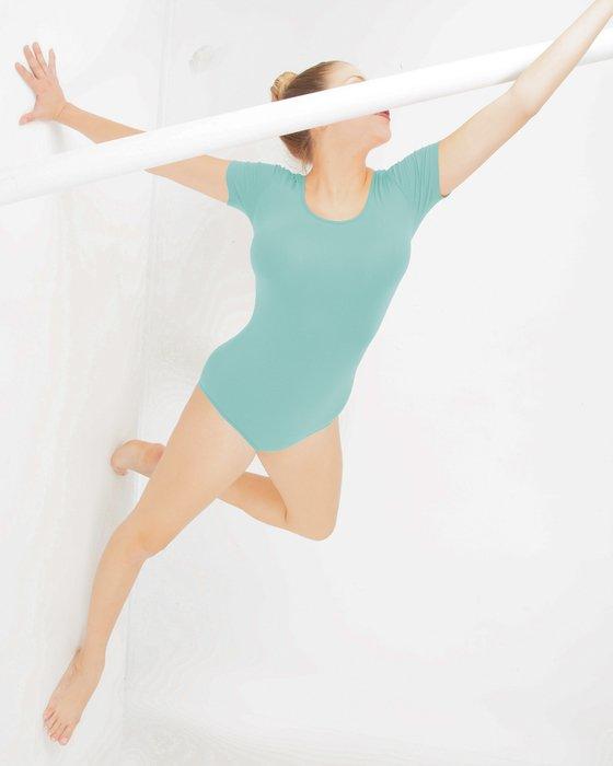 Dusty Green Short Sleeve Bodysuit Style# 5013   We Love Colors