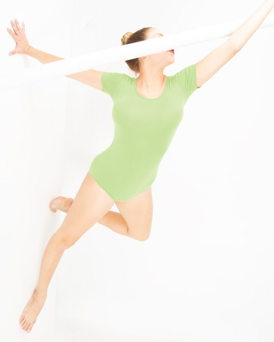 Mint Green Short Sleeve Bodysuit Style# 5013 | We Love Colors