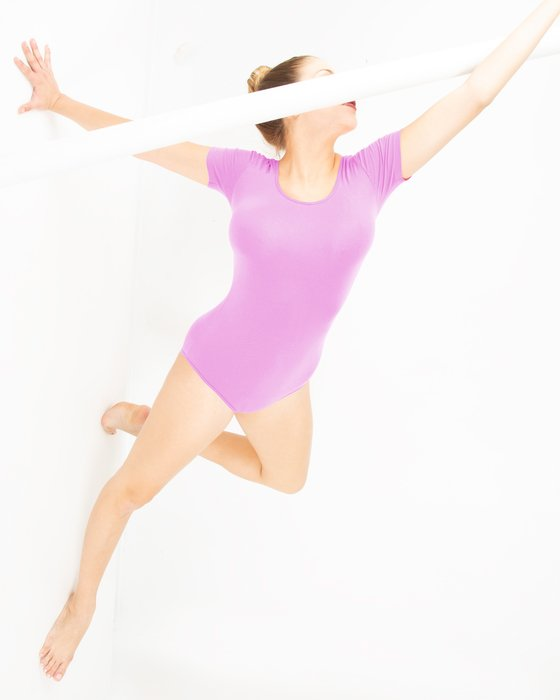 5013 W Orchid Pink Short Sleeve Leotard