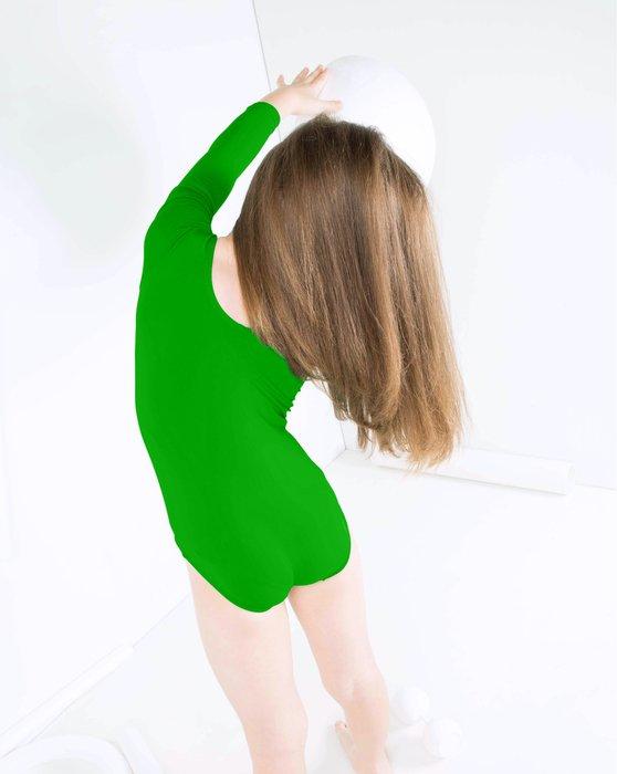 Kelly Green Kids Long Sleeve Scoop Neck Leotard Style# 5072 | We Love Colors
