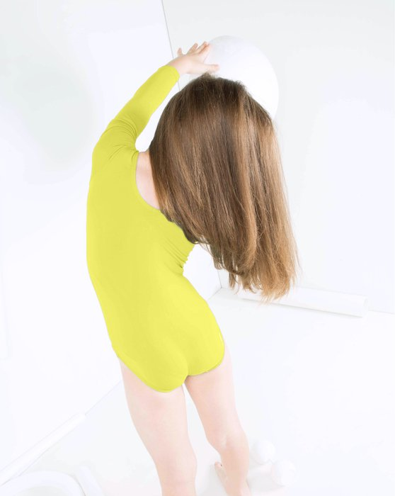 5072 Maize Kids Long Sleeve Scoop Neck Leotard