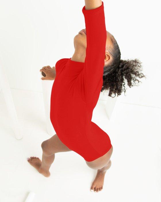 Red Kids Long Sleeve Mock Turtleneck Leotard Style# 5078 | We Love Colors