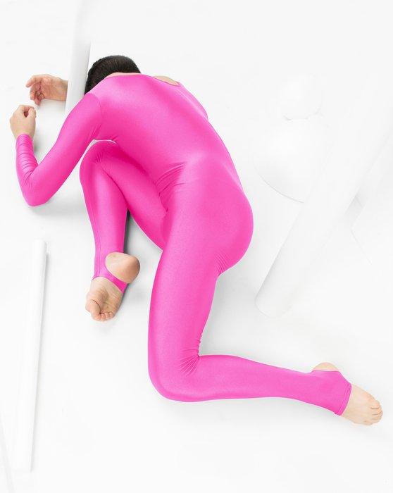 Neon Pink Kids Long Sleeve Unitard Style# 5079   We Love Colors
