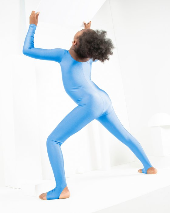 Sky Blue Kids Long Sleeve Unitard Style# 5079   We Love Colors