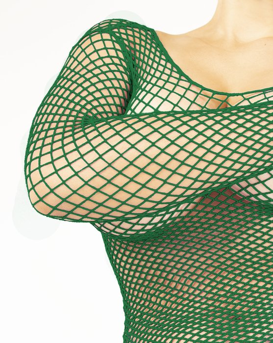 Emerald Fishnet Long Sleeve Shirt Style# 6001   We Love Colors