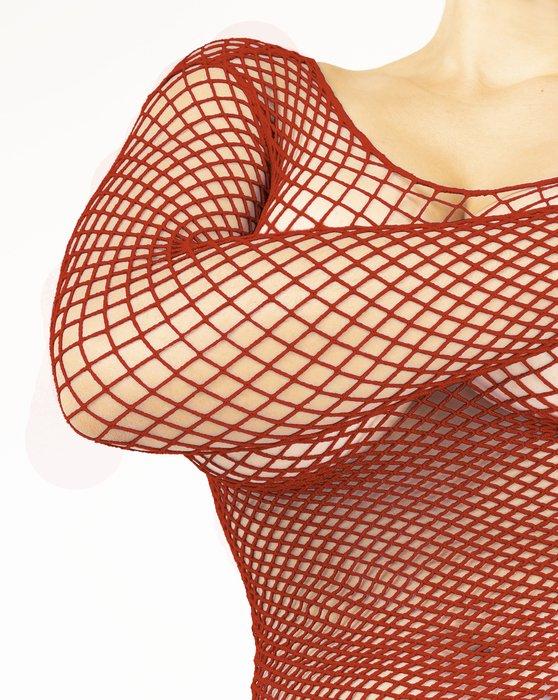 Rust Fishnet Long Sleeve Shirt Style# 6001   We Love Colors