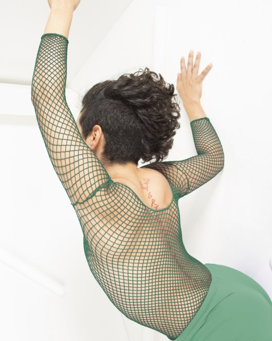 Scout Green Fishnet Long Sleeve Shirt Style# 6001 | We Love Colors