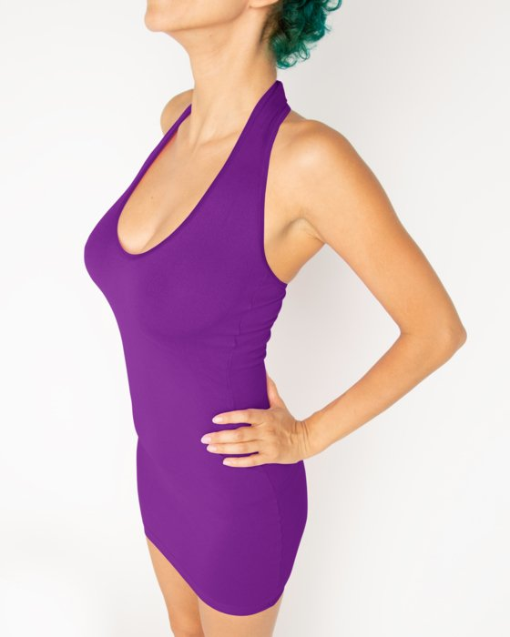 6025 W Amethyst Halter Dress